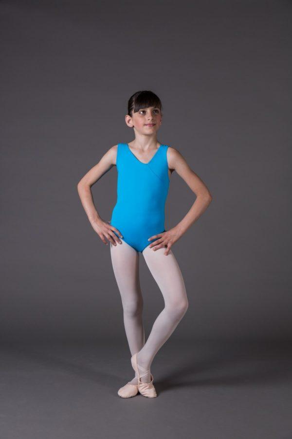 Body Danza Bambina canotta scollo a V