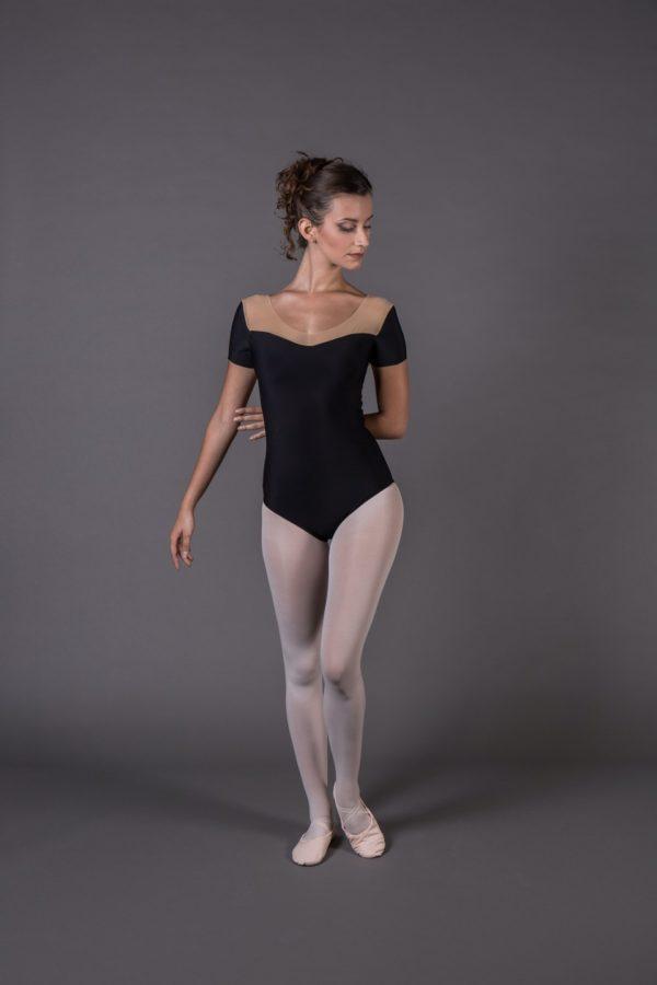 Body Danza donna mezza manica scollo avanti cuore scollo dietro a V