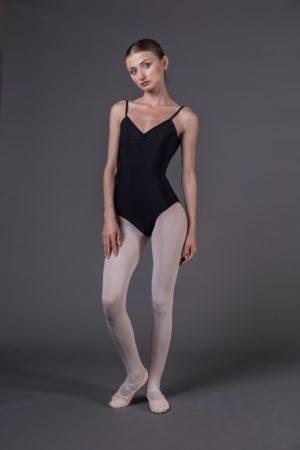 Body danza donna a bretelle riccetto avanti