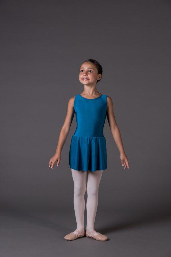 Body Danza Bambina canotta scollo rotondo avanti
