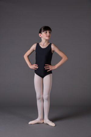Body Danza Bambina canotta scollo rotondo davanti e dietro
