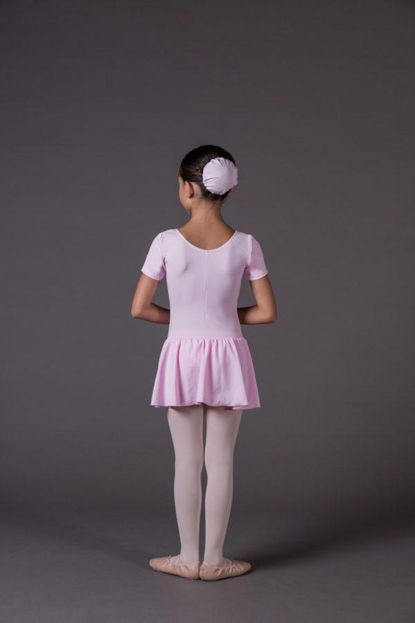 Body Danza Bambina a manica corta riccetto avanti