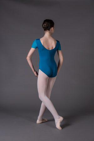 Body Danza Bambina manica corta scollo rotondo