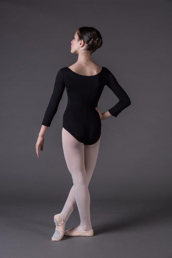 Body Danza Bambina a manica lunga con scollo rotondo