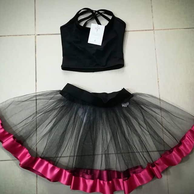 GONNELLINO IN TULLE E TOP