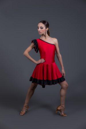 abito per ballo latino monospalla