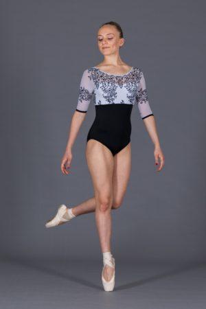 Body danza scollo rotondo maniche al gomito