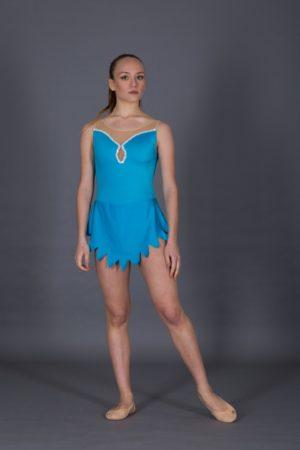 Body per ginnastica ritmica con inserto a goccia
