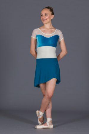 Body danza donna con gonnellino staccato