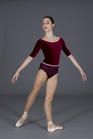 Body danza donna in lycra e velluto