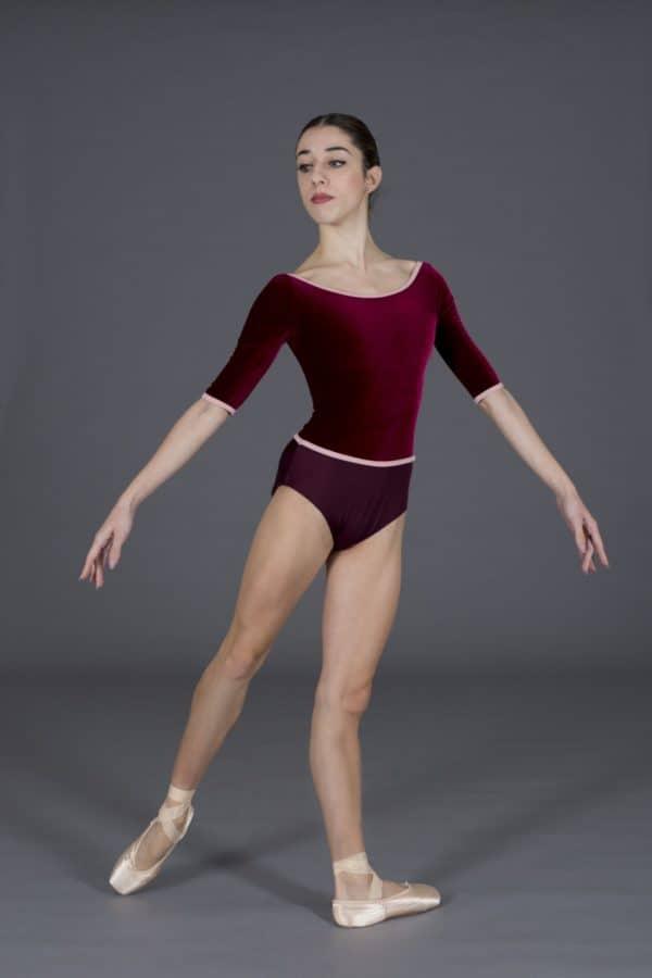 Body danza donna in lycra e velluto