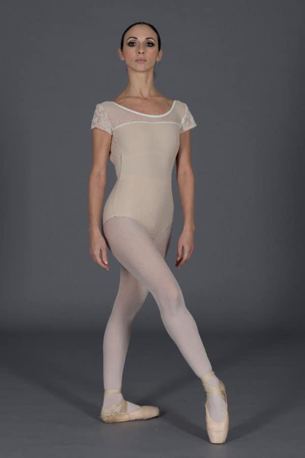 Body danza con maniche ad aletta