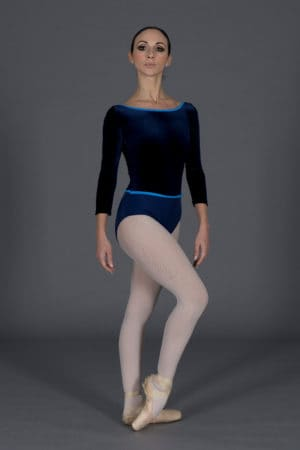 Body danza in lycra e velluto