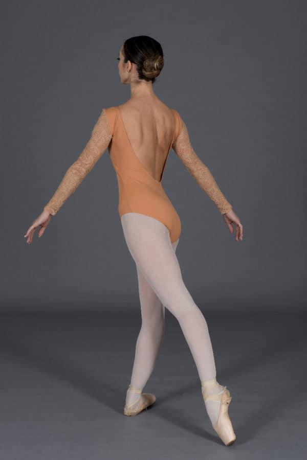 Body Danza a manica lunga in pizzo