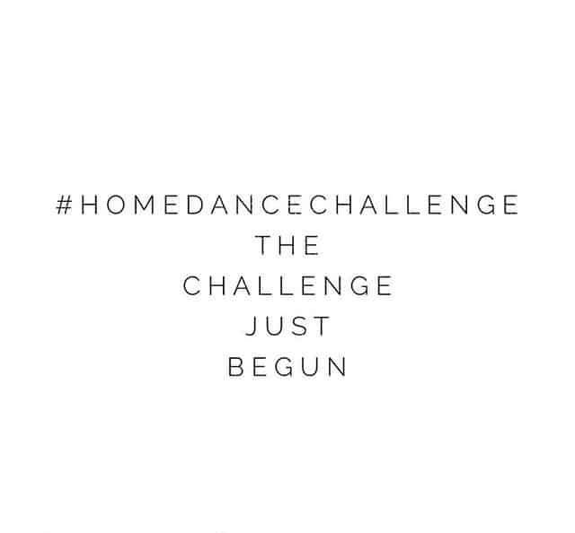 #HOMEDANCECHALLENGE – DON'T STOP DANCING