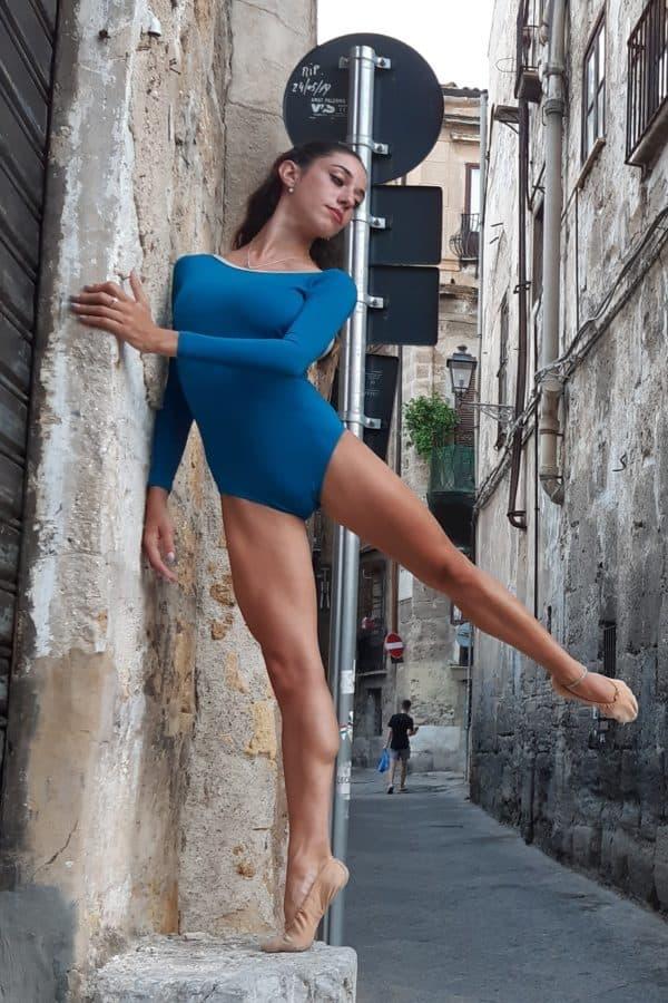 body danza donna manica lunga